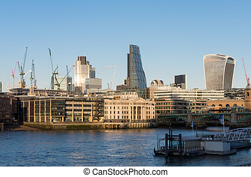 View of modern buildings in the City of London