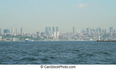 View of Modern Istanbul landscape and Bosphorus
