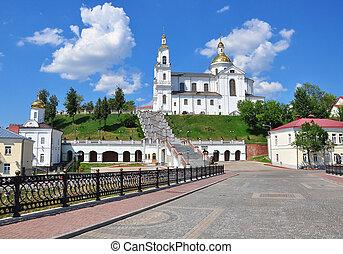 View of monastery in Vitebsk city