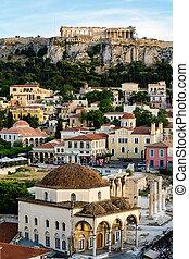 View of Monastiraki and Acropolis. Athens, Greece