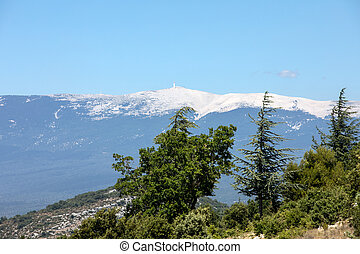 View of Mont Ventoux in Provence, France