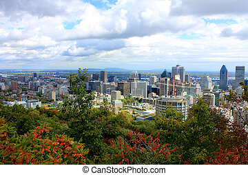 View of Montreal from Mount Royal - A view of Montreal,...