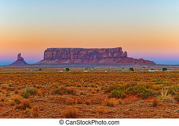 View of Monument Valley in Utah, USA.