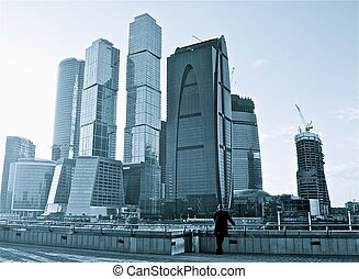 View of Moscow City Skyscrapers, Moscow, Russia