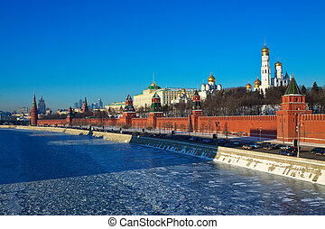 View of Moscow Kremlin in winter