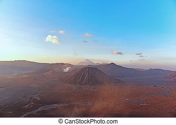 View of Mount Bromo and Batok during Sunrise from Penanjakan...
