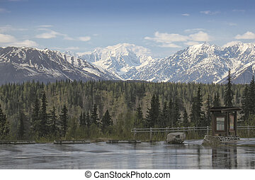 View of Mount McKinley near Denali National Park