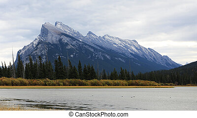 View of Mount Rundle near Banff, Canada - A View of Mount...