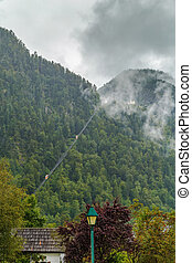 View of mountain in Hallstatt, Austria