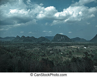 view of mountain in Thailand