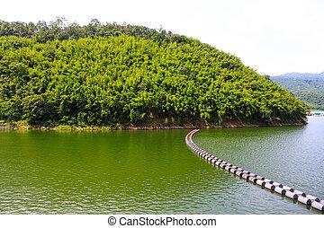 View of mountain on lake