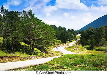 View of mountain with road