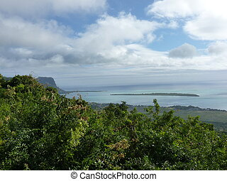View Of Mountains And Indian Ocean