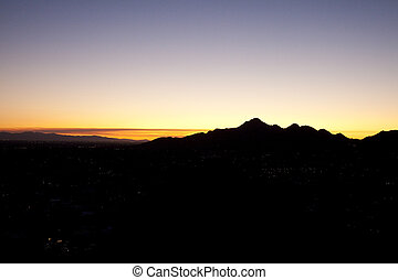 View of Mountains in Phoenix Arizona