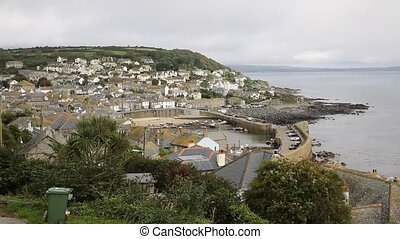 View of Mousehole Cornwall England - Mousehole harbour...