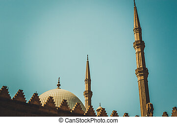 view of muhammad ali mosque at cairo, egypt