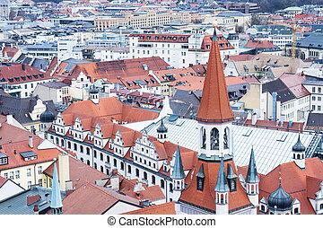 View of Munich city center. Munchen, Germany