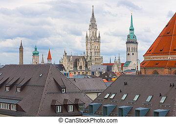 Munich in a cloudy summer day