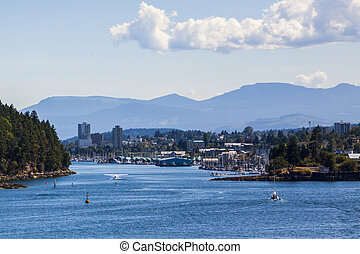 View of Nanaimo, Port City of Vancouver Island