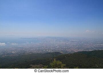 View of Naples from Vesuvius