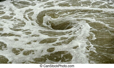 view of natural whirlpool in water