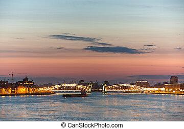 Neva river - View of Neva river in St. Petersburg, Russia