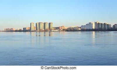 View of Neva river, St.Petersburg. - View, River, Neva,...