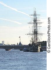 View of Neva River. - View of Neva River in St. Petersburg, ...