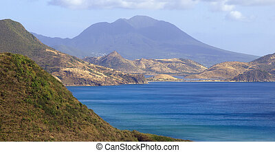View of Nevis across the bay from St. Kitts