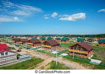 View of New Contemporary Suburban Neighborhoods