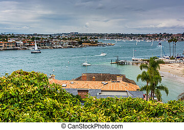 View of Newport Beach from Lookout Point, Corona del Mar,...