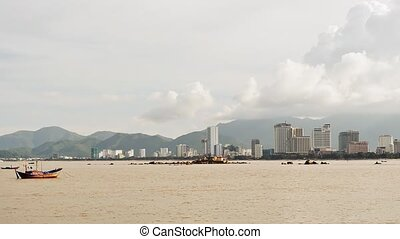 View of Nha Trang downtown, Nha Trang is a coastal city and capital located in South Central Coast of Vietnam.