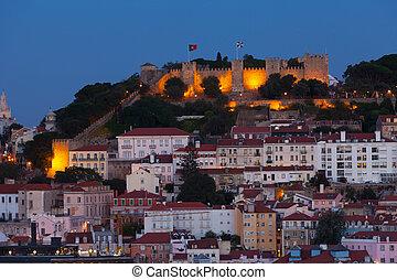 View of night Lisbon