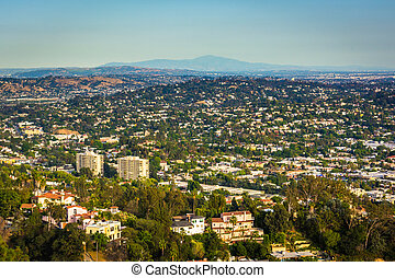 View of Northeast Los Angeles from Griffith Observatory, in Los