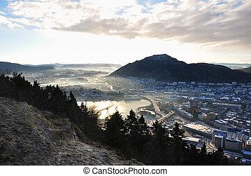 View of Norwegian fjord.