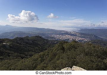 View of Nuoro from the mountain