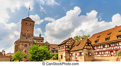 View of Nuremberg Castle in Bavaria, Germany