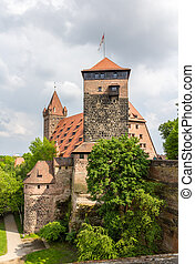 View of Nuremberg Castle in Bavaria