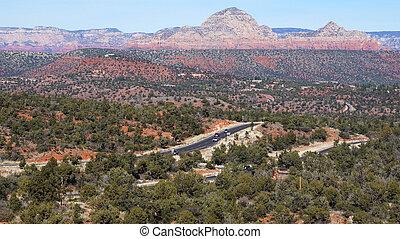 View of Oak Creek Canyon in Arizona