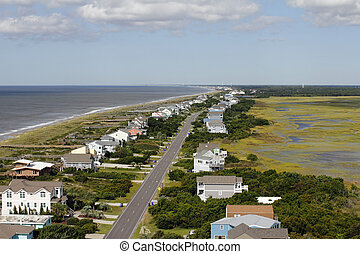 View of Oak Island, NC from a Lighthouse