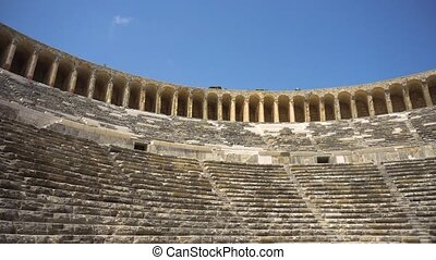 View of old ancient amphitheatre - Beautiful view of old...