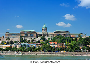 View of old Castle across the Danube Budapest