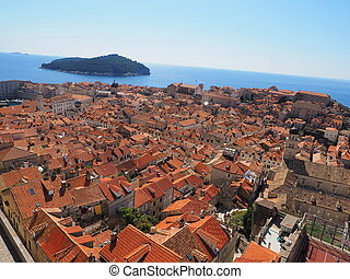 View of old city Dubrovnik from the city walls