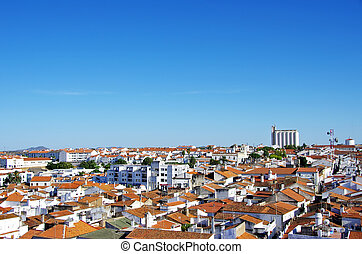 view of old city, Moura, Portugal