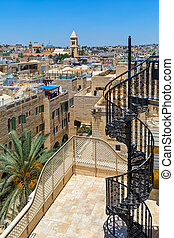 View of Old City of Jerusalem from the roof.