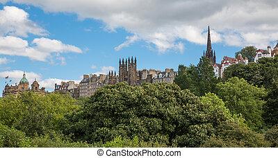 View of old Edinburgh