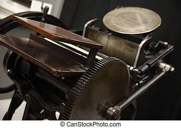 view of old letterpress