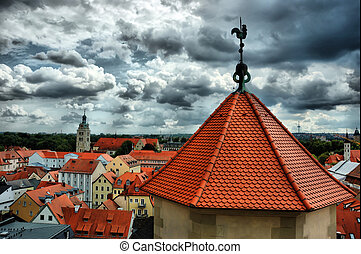 View of Old Regensburg ,Bavaria,Germany,Unesco heritage,HDR