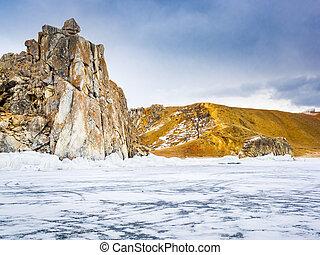 View of Olkhon Island in Lake Baikal