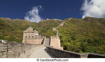View of one of the most scenic sections of the Great Wall of China, north of Beijing
